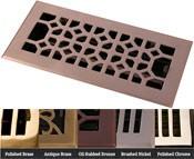 Coastal Bronze Brass Legacy Classic Floor Register - 5 Finishes