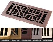 Coastal Bronze Brass Oriental Floor Register - 5 Finishes