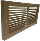 Shoemaker Brown Baseboard Return Grille