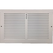 Baseboard Register with Plate Damper- White