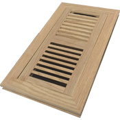 Unfinished Oak Flush Mount Floor Register