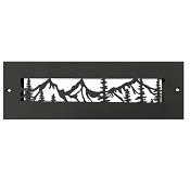 Steel Crest Gold Series 10 x 2.25 Black Wall Register - Mountain Design
