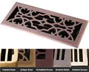 Coastal Bronze Brass Victorian Floor Register - 5 Finishes