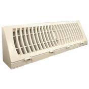 TruAire White Plastic Baseboard Register