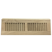 White Oak Wood Baseboard Diffuser - Unfinished
