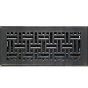 Oil Rubbed Bronze Wicker Floor Register
