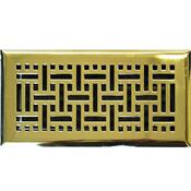 Polished Brass Wicker Floor Register