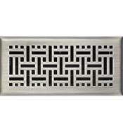 Satin Nickel Wicker Floor Register