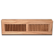 Red Oak Wood Baseboard Diffuser - Natural Finish