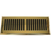 Plastic Contemporary Polished Brass Floor Register