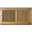 Light Oak Finished Sidewall Ceiling Register