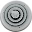 White Round Register - 6 Inch