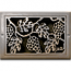 Classic Grills Grape Leaf Themed Registers - White Bronze