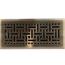 Antique Brass Wicker Floor Register