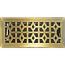 Antique Brass Marquis Steel Floor Register