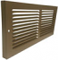 Shoemaker Brown Rectangle Baseboard Return Grille