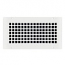 Steel Crest Gold Series 11 x 5 White Wall Register - Square Design