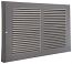 Pewter Baseboard Return Grille