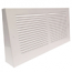 Triangular Projection Baseboard Return - White