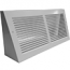 White Baseboard Return Grille - Triangular