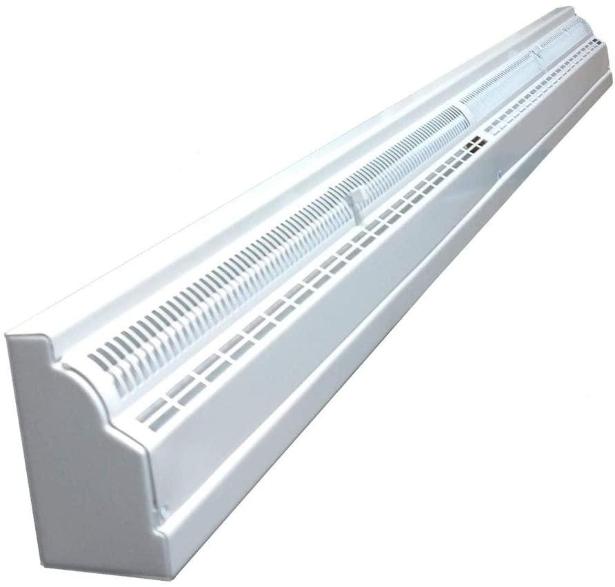 4 Foot Metal Baseboard Register - White
