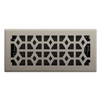 Brushed Nickel Templar Floor Register