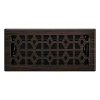 Oil Rubbed Bronze Templar Floor Register