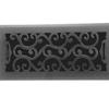 Charleston Floor Register - Black Finish