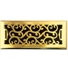 Charleston Floor Register - Polished Brass Finish