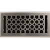 Satin Nickel Floor Register - Charlotte Decorative Floor Vent