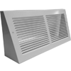 White Baseboard Return Grill Extended Depth