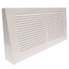 Triangular Projection Baseboard Return - White