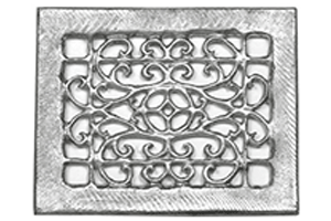 Cast Aluminum Floor Return Grill