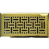 Polished Brass Wicker Floor Register