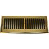 Plastic Contemporary Polished Brass Floor Register