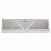 White Baseboard Register - Extended Height