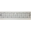 Wicker Baseboard Register - White
