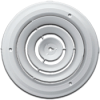 8 Inch Round White Steel Wall Return vent