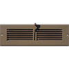 Brown Steel Toe Kick Register Vent