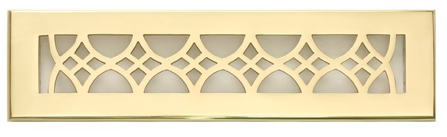 Solid Brass 2x12 Floor Vent