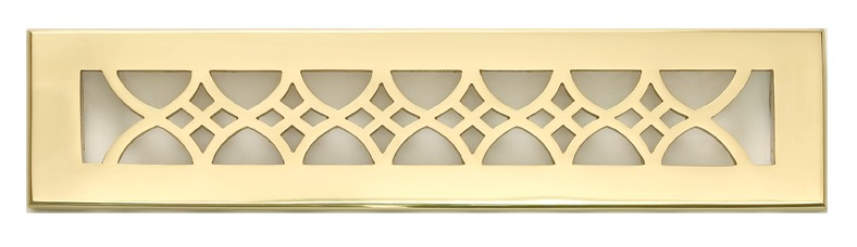 Solid Brass 2x14 Decorative Register