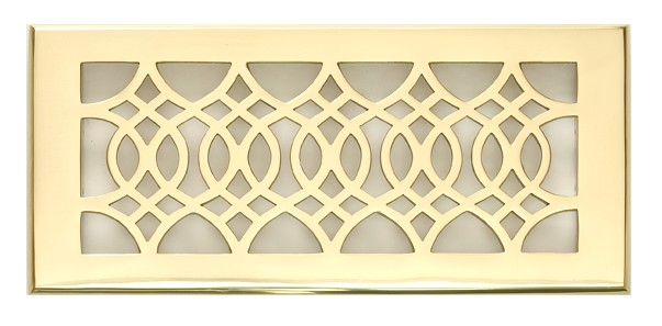 Solid Brass 4x10 and 4x12 Decorative Vent