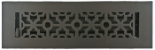 Cast Aluminum Black Floor Vent