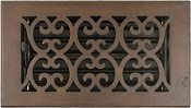 4x8 Scroll Decorative Floor Vent