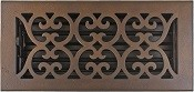 Hamilton Sinkler 4x10 4x12 Scroll Bronze Patina Floor Vent
