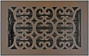 Scroll Bronze Patina 6x10 Floor Vent