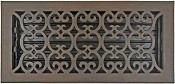 6x14 Decorative Floor Register Bronze