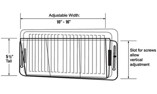 Elegant Deflect O Adjustable Sidewall Air Deflector