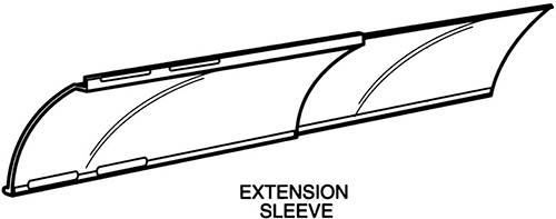 air deflector extension sleeve | plastic air deflector