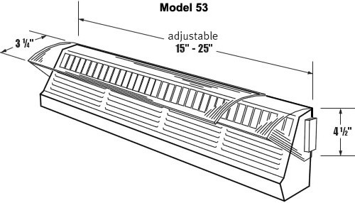 air flow control | baseboard air deflector